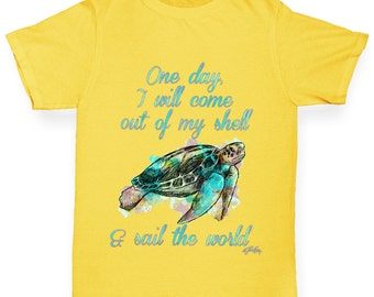 Girl's One Day I will come Out Of My Shell T-Shirt