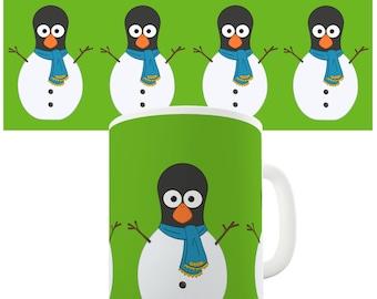 Guin The Penguin Snowman Ceramic Tea Mug