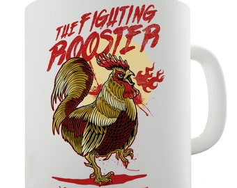 The Fighting Rooster Ceramic Funny Mug
