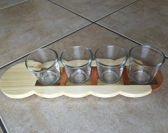 Cup holder cloud for bitters and liqueurs-glasses included in gift