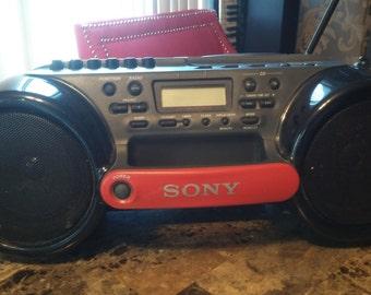 Vintage Sony Sports Boom Box
