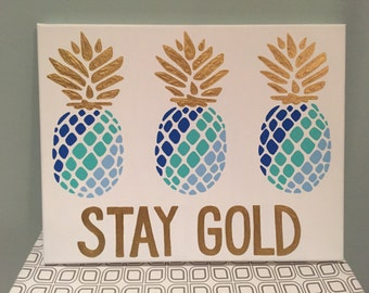 Pineapple With Quote Canvas