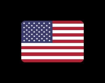 USA National Flag A3 Print