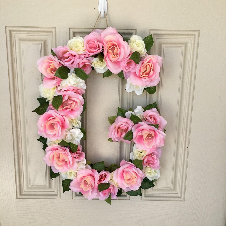 Shop Floral Monograms At Littlebrownnest Etsy Com: Floral Letter G Floral Monogram Flower By HomeGrownMommaCo
