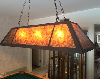 Billiards Light Custom Mica Light Fixture Pool Table Light with Metal Frame