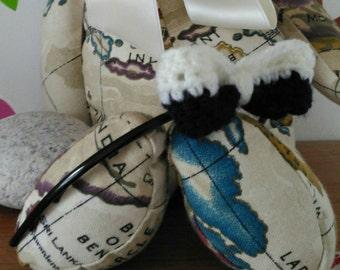 Midnight Moonlight crocheted bow headband