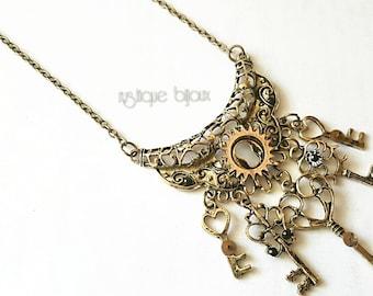 Bronze keys necklace