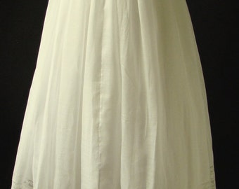 Light Cotton Christening Gown with Matching Slip, Antique.  Ready to Wear