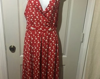 Red & White polka dot dress