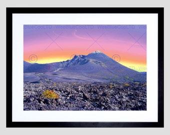 Photo Landscape Lanzarote Canary Islands Spain Volcano Poster Print FEBMP11634