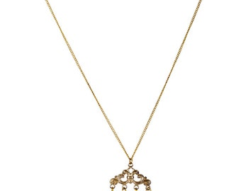 Alice in Wonderland gold necklace (spoons)