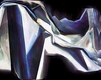 Blue . Original modern art print . Signed . Limited edition