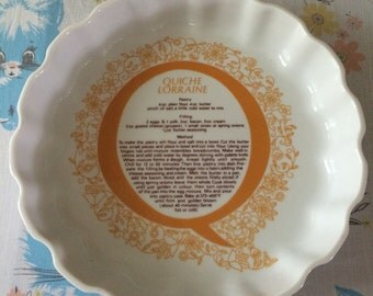 Shafford Quiche Lorraine porcelain oven to table baking dish