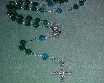 Emerald and Aqua Rosary
