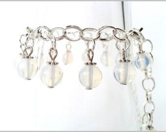 Opal bracelet genuine Bangle silver metal
