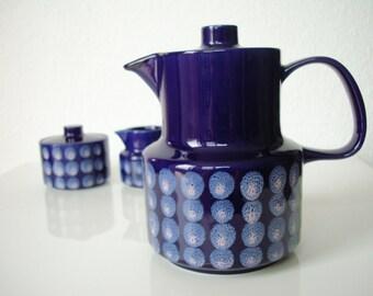 Copenhagen • Melitta teapot • Germany • blue pink polka dots