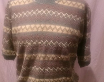 1940s Vintage Cable Knit Sweater/Jumper / Vintage Sweater