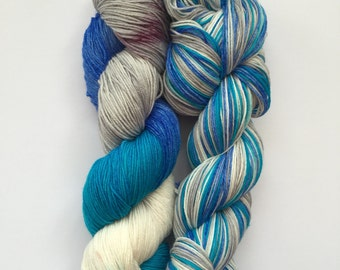 Icelandic Glacier Hand Dyed Sock Yarn 100g DYED TO ORDER
