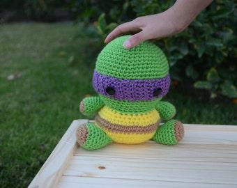 Ninja Turtles Crochet, Teenage Mutant Ninja Turtles, ninja, Donatello, Michelangelo, Leonardo, Raphael, handmade, gift, with Free Shipping