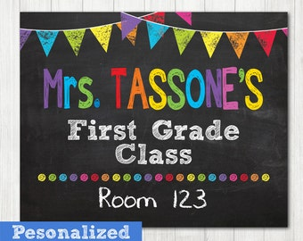 Teacher Door Sign, Personalized Teacher Sign, Classroom Door Sign, Teacher Classroom Decor, Teacher Name Sign, Teacher Christmas Gift, Room