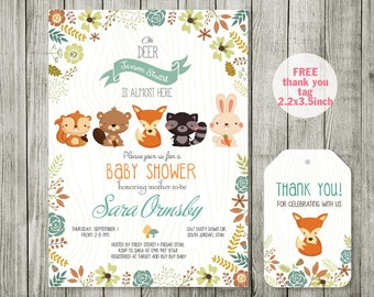 Woodland baby shower Etsy
