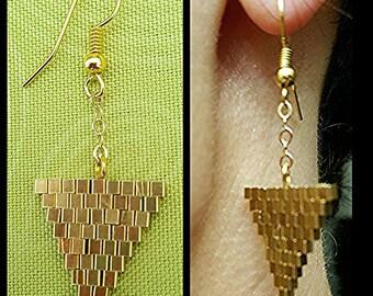 """Earrings """"Golden triangles"""""""