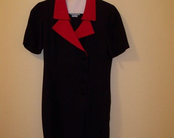 Women's Suit Dress Navy/Red Size 4