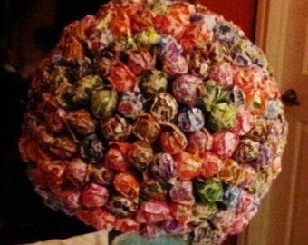 Lollipop topiary centerpiece