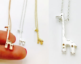 Giraffe Delicate Handmade Necklace, Dainty Gold Plated Necklace