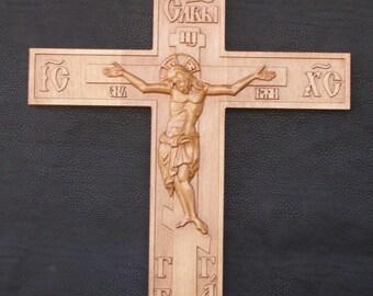 Crucifix Jesus Christ  Cross (4) - 3D Art Orthodox Wood Carved religious