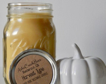Harvest Type Scented 100% Pure Filtered Beeswax Candle