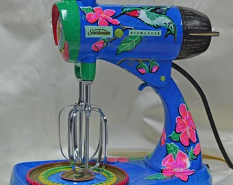 Vintage Sunbeam Mixmaster Mixer Custom Handpainted