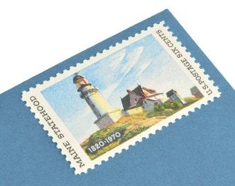 25 Maine Postage Stamps - 6c - Maine Statehood - 1970 - Unused Postage - Quantity of 25