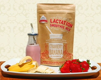 MOMMA Strawberry Banana Lactation Smoothie Mix