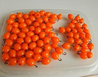 Light orange POLYMER CLAY beads