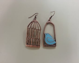 Vintage Bird Cage Earrings