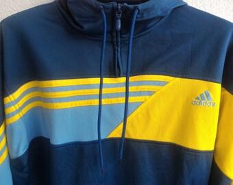 Vintage Adidas Pullover Zip Up Sweater Jacket Sweatshirt Hoodie