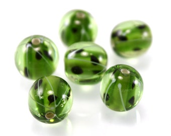 Gooseberry beads, handmade lampwork beads, berry beads