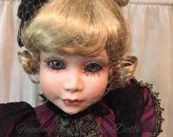 """Mallory doll by Peggy Dey 18"""" porcelain"""