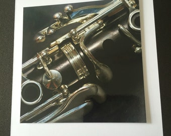 Greeting card clarinet