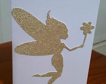Blank Glitter Fairy Greeting Card