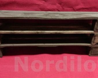 Pallet furniture shoe rack No.. 10