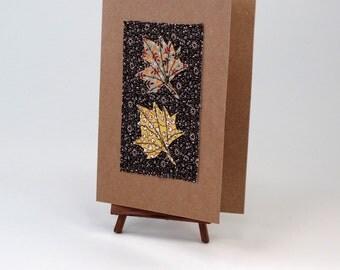 Handmade Fabric Collage Card
