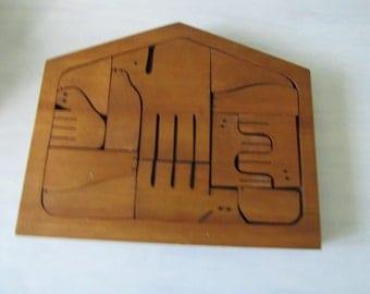 Vintage Wooden Puzzle  136