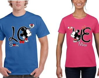 Special Love Soul Mate Design Couple T-shirt