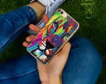 Lion iPhone Case, iPhone 6s Case, Lion iPhone 7 Case, Lion iPhone 6s Plus Case, Lion iPhone 6 Case, Lion iPhone 6+ Case Handmade luxury case