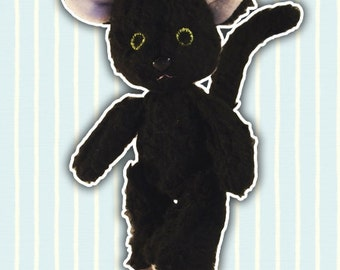 Plush handcrafted | Teddy-Cat | Snowman | Gift idea