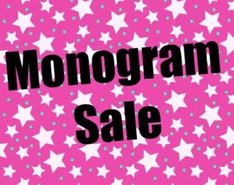 Vinyl monograms/ back to school sale
