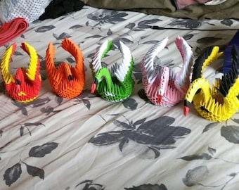 Handmade 3D Paper Cranes!