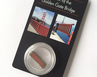 Piece of Historic Golden Gate Bridge Steel - Souvenir Gift for Men - Dad - Fathers Day - Groomsmen - Wedding Favors